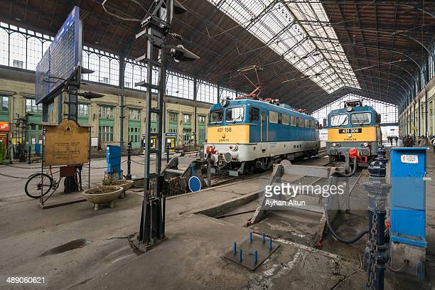 Budapest-Nyugati palyaudvar , is one of the three main railway terminals in Budapest, Hungary.