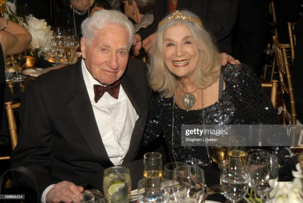 Budd Schulberg and Sylvia Miles during Official 2003 Academy of Motion Picture Arts and Sciences Oscar Night Party at Le Cirque 2000 at Le Cirque 2000 in New York, NY, United States.