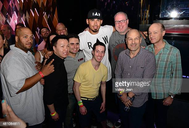 """Buddha, Afrojack, Steve Barrels, Barry Weiss and David Massey attend a Private Listening Event for Afrojack Debut Album """"Forget The World"""" at W Hotel..."""