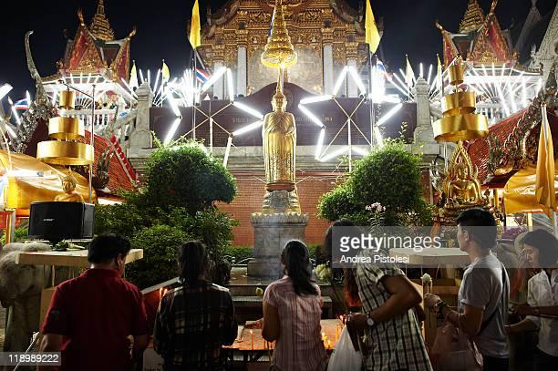 buddha birthday celebration in bangkok - buddha's birthday stock pictures, royalty-free photos & images