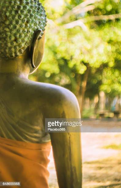 Buddha, Buddhist Temple in Old Town, Ko Lanta, Krabi Province, Thailand.