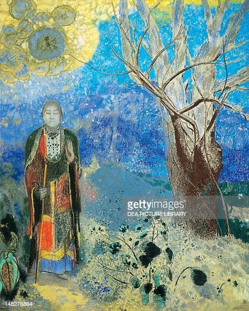 Buddha ca 1905 by Odilon Redon pastel on paper 90x73 cm Paris Musée D'Orsay