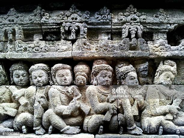 Buddha Carvings At Borobudur Temple