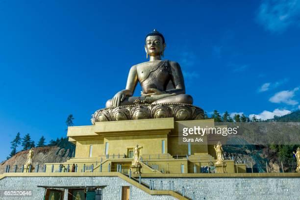 buddha dordenma statue, thimphu, bhutan. - bhutan stock pictures, royalty-free photos & images