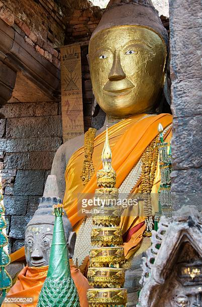 Buddha image at Wat Phu, Laos
