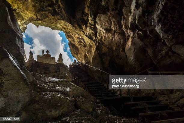 Buddha image in a cave