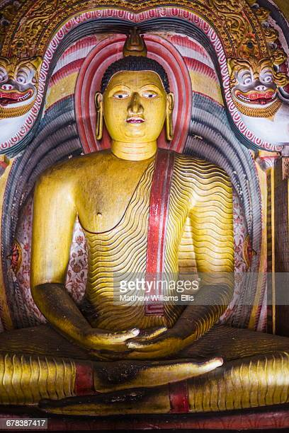 Buddha in Cave 3 (Great New Monastery), Dambulla Cave Temples, UNESCO World Heritage Site, Dambulla, Sri Lanka, Asia