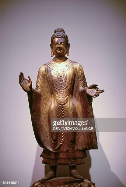 Buddha Maitreya 486 dC gilt bronze sculpture Chinese civilisation Northern Wei dynasty 5th century New York The Metropolitan Museum Of Art