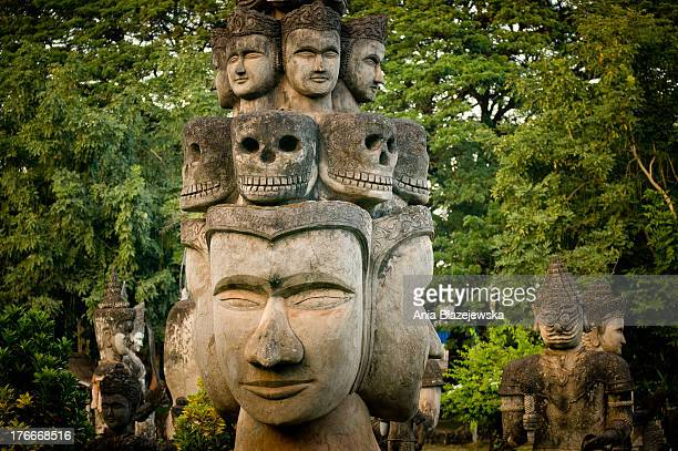 Buddha Park also known as Xieng Khuan is a park full of bizarre and eccentric statues and it is located 25 km southeast from Vientiane, Laos at a...