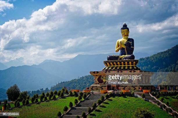 buddha park of ravangla, sikkim, india - sikkim stock pictures, royalty-free photos & images