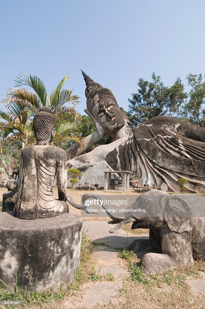 Buddha Park, Xieng Khuan, Vientiane, Laos, Indochina, Southeast Asia, Asia : Stock Photo