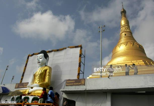 Buddha Purnima A 21ft high statue of Buddha a gift from Myanmar was unveiled at Gorai on Thursday