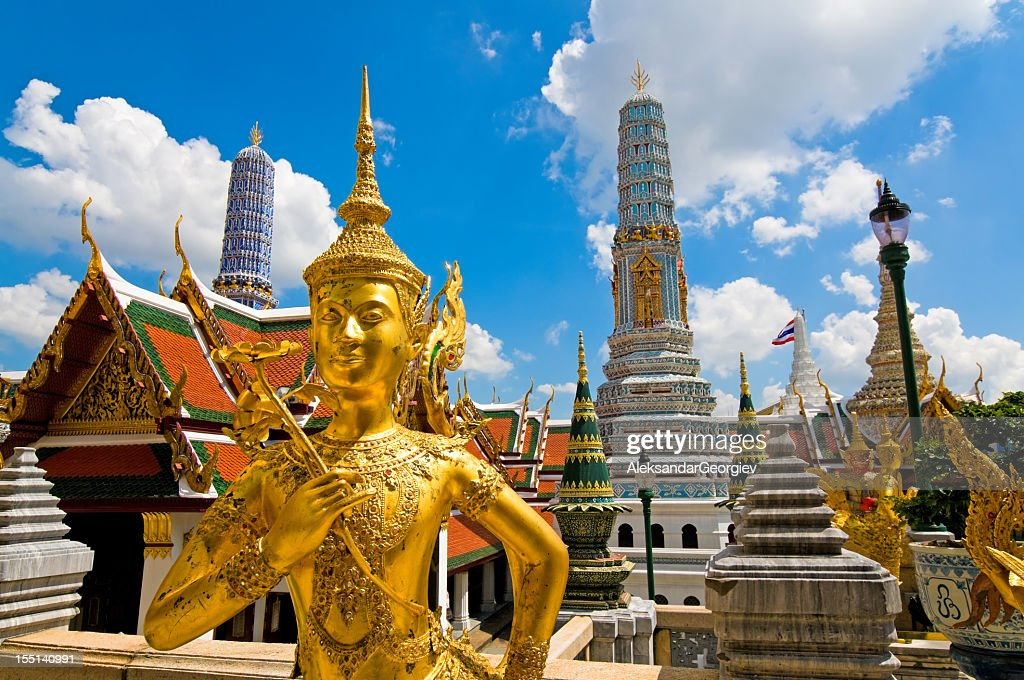 Buddha sculpture in Grand Palace Thailand : Stock Photo