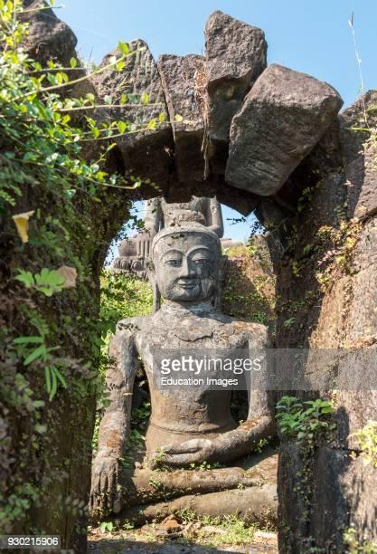 Buddha Statue at Peisi Taung, Pizidaung, Mrauk U, Burma, Myanmar.