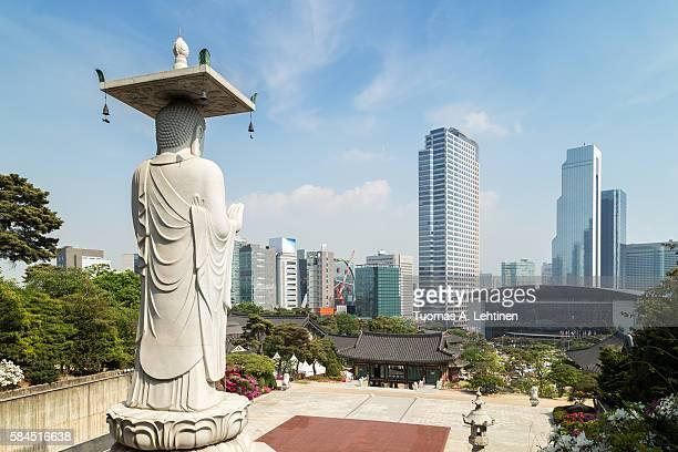 Buddha statue at the Bongeunsa Temple in Seoul