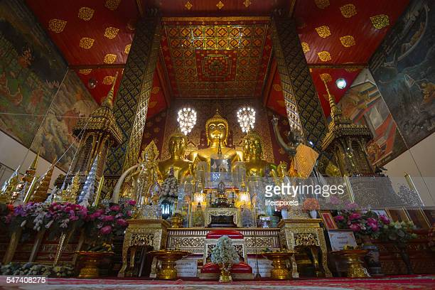 buddha statue at wat phra that hariphunchai - lifeispixels stock pictures, royalty-free photos & images