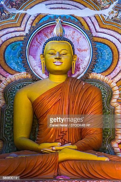 Buddha statue in a temple, Sri Lanka