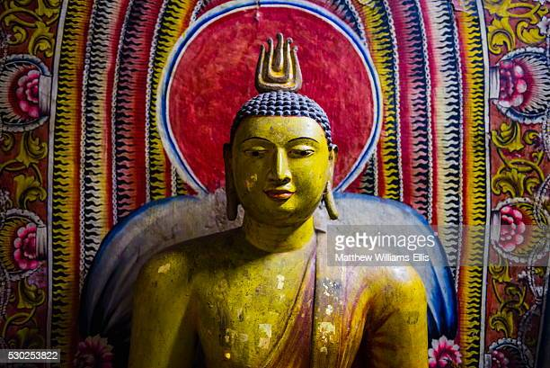 Buddha statue in Cave 1 (Cave of the Divine King) (Temple of the Divine King), Dambulla Cave Temples, UNESCO World Heritage Site, Dambulla, Sri Lanka, Asia
