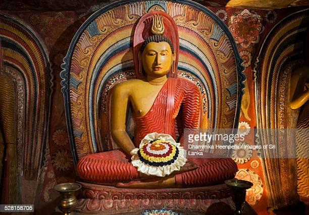 A Buddha statue in Degaldoruwa temple