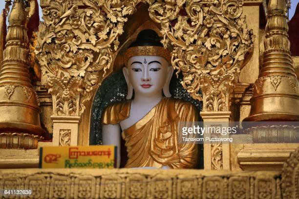 Buddha statue in the Shwedagon Pagoda