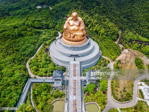 buddha statue in xuedou temple , china - ningbo stock pictures, royalty-free photos & images