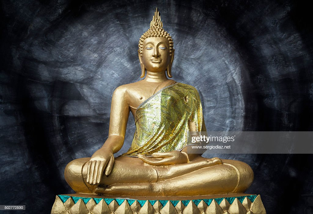 Buddha statue inside a temple : Stock Photo