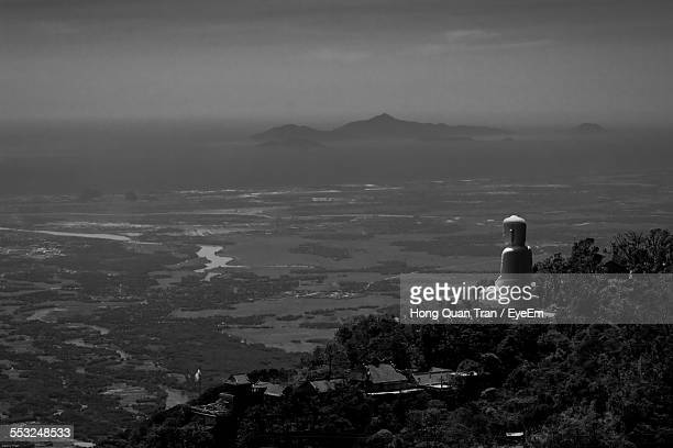 buddha statue on bana hill - hong quan stock pictures, royalty-free photos & images