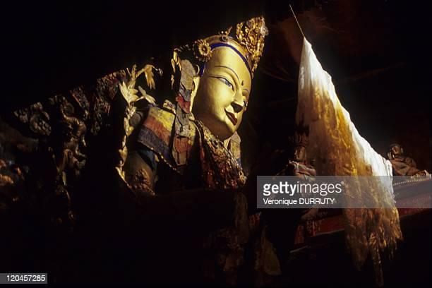 Buddha statue Pelkor chode monastery Gyantse Tsang Tibet in China