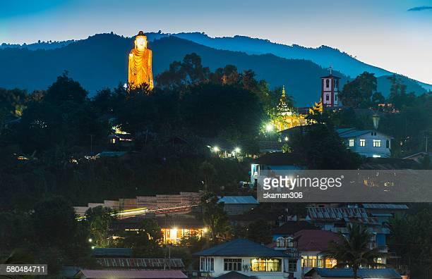 Buddha statue standing at Kengtung Myanmar