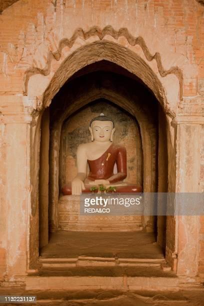 Buddha statue Tayoke Pyay Temple Bagan Myanmar Burma Southeast Asia