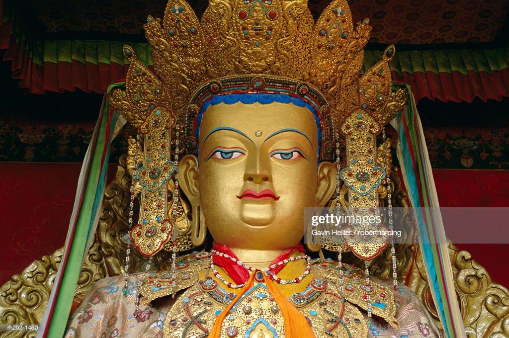 'Buddha statue, Xiaozhao temple, Lhasa, Tibet, China, Asia' : Foto de stock