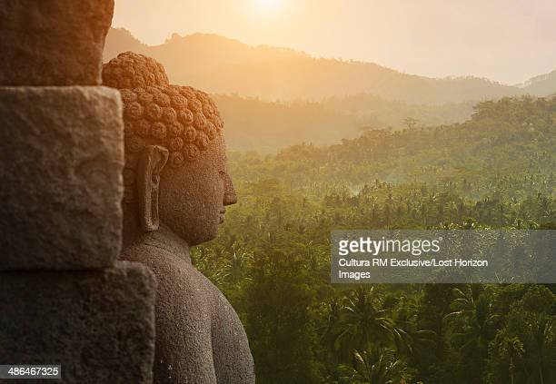 Buddha, The Buddhist Temple of Borobudur, Java, Indonesia