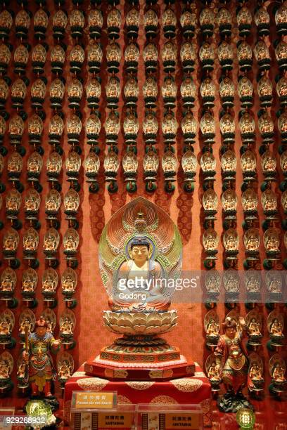 Buddha Tooth Relic Temple in Chinatown Amitabha Buddha Guardian deity for persons born in the year of the dog and pig Singapore