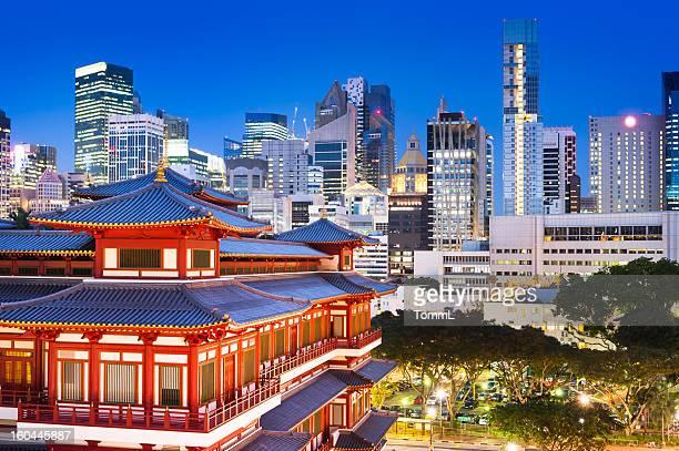 Relique Temple bouddhiste de dents dans le quartier de Chinatown, Singapour