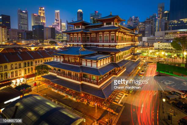 buddha tooth relic temple, singapore - south east asia stock pictures, royalty-free photos & images
