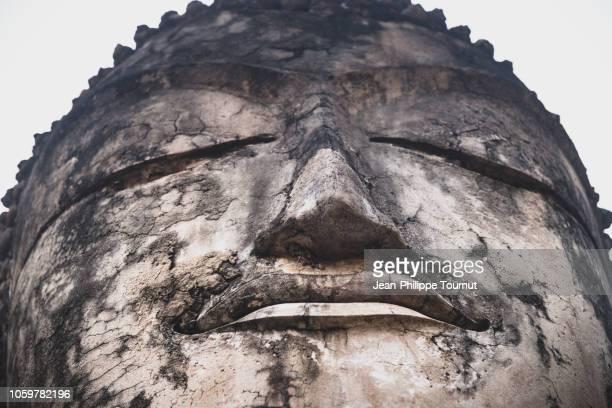 buddha, wat phra kaew, kamphaeng phet, thailand - 仏陀の目 ストックフォトと画像