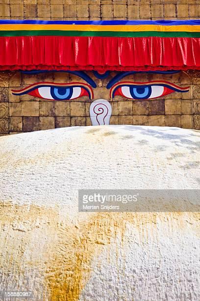 Buddha's Eyes on Boudhanath stupa