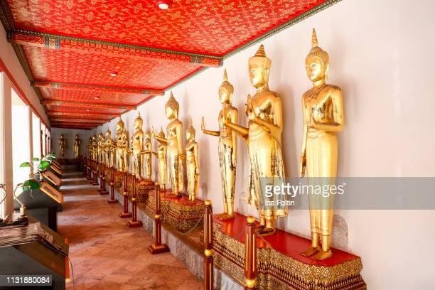 Buddhas inside Wat Pho on December 24 2018 in Bangkok Thailand