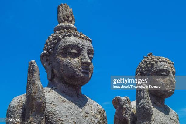 buddha's statue at gangaramaya temple, colombo. - imagebook stock pictures, royalty-free photos & images