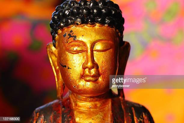 Bouddhisme: Statue tête de Bouddha en or