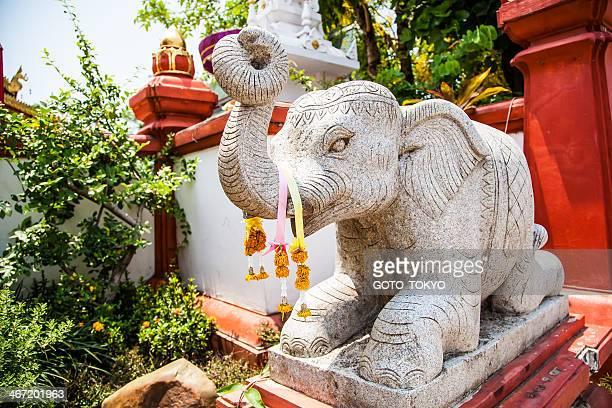 Buddhism stone statue of the elephant