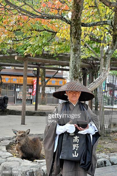 仏教の僧侶が托鉢僧の伝統的な衣類、宮島,日本