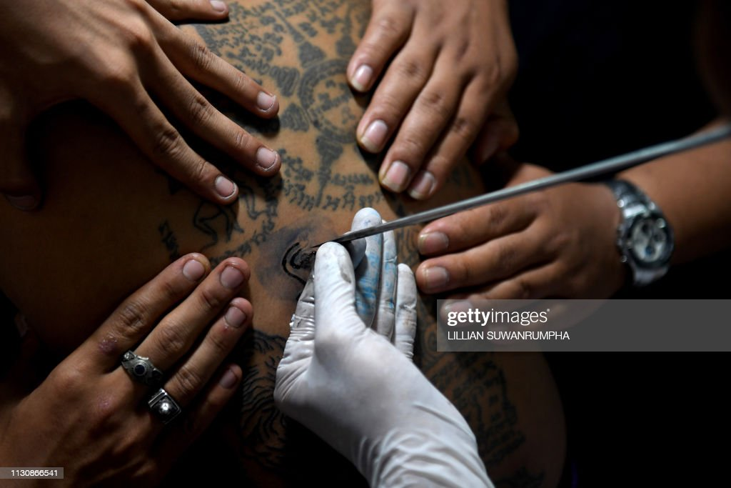 THA: Sacred tattoo festival at the Wat Bang Phra temple in Nakhon Pathom