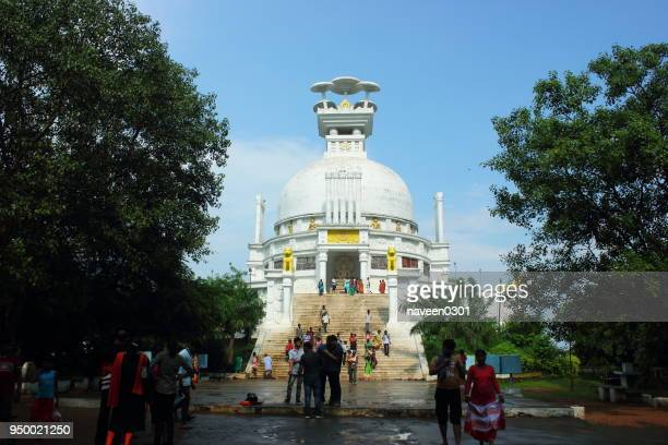 buddhist dhauli shanti stupa at dhauligiri near bhubaneswar city in odisha, india - stupa stock pictures, royalty-free photos & images