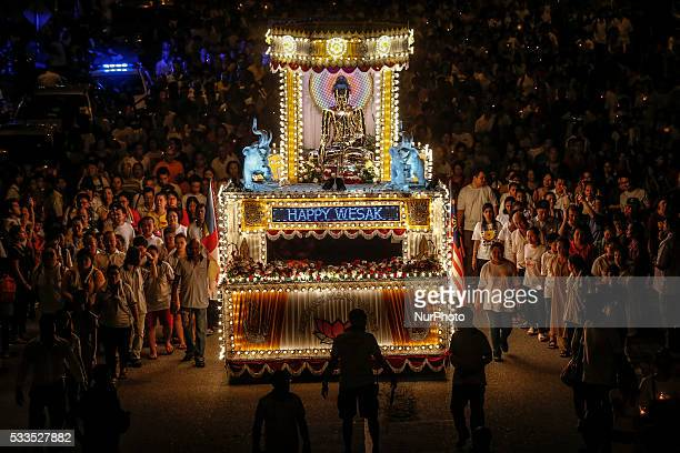 A Buddhist float procession during the Vesak Day celebration in Kuala Lumpur on May 21 2016