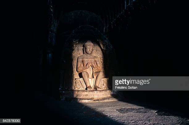 Buddhist Hindu and Jain cave temples were built between the 5th century and 10th century   Location near Aurangabad India