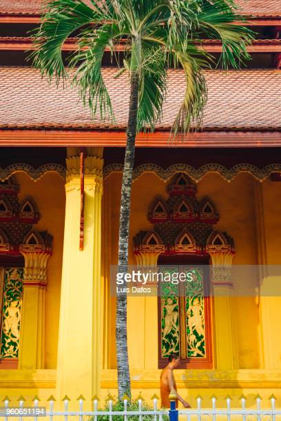 buddhist monastery in vientiane. - dafos stock photos and pictures