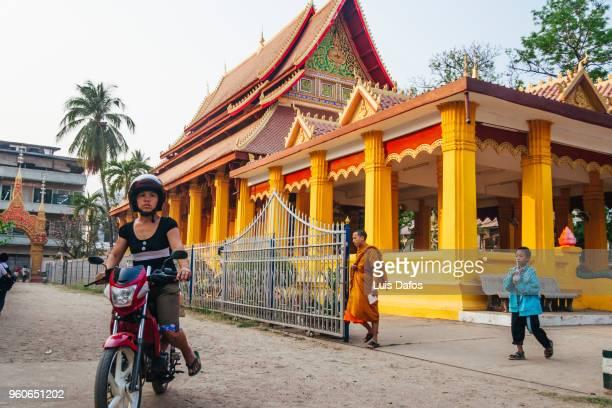 Buddhist monastery in Vientiane.