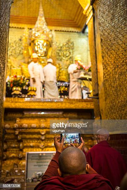 Buddhist monk and Mobile Phone