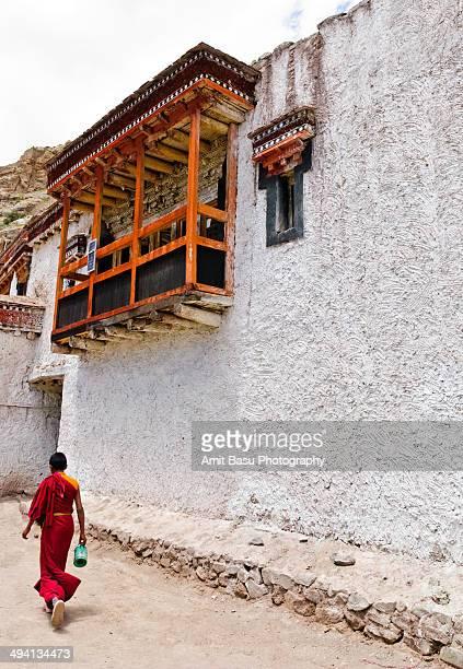 Buddhist Monk at Hemis monastery. Ladakh, India